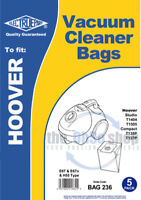 5 x HOOVER Vacuum Cleaner Bags H55 Type to fit STUDIO T1404, T1505