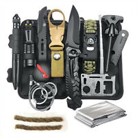 Hunting Emergency Survival Kit Fishing SOS Survival Gear Outdoor Camping 12 in 1