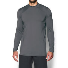 Under Armour Men's Gray UA ColdGear Reactor Fitted Long Sleeve Shirt
