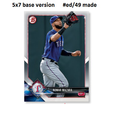 NOMAR MAZARA Rangers #56 - 5x7 Base Version #ed/49 made 2018 Topps Bowman