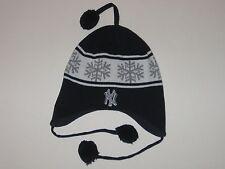 New York Yankees Winter Hat With Three Dangling Jingle Balls