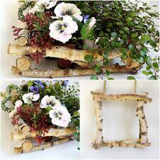 Deko Ast Rahmen - Pflanz Blumen Topf Tisch Fenster Garten - Dekoast Hänger natur