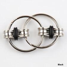 Bike Chain Fidget, Finger Spinner, Black,~ Stress Relief,  ADHD, Sensory, Autism