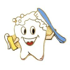 Hygienist Cap Tac Toothpaste Brush New Smiley Tooth Lapel Pin Dental Dentist