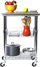 Seville Classics Stainless-Steel Professional Kitchen Work Table Cart Utility Ns