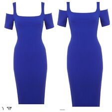 Ex Miss Selfridge  Blue Mid Dress,size 8,10,12,16