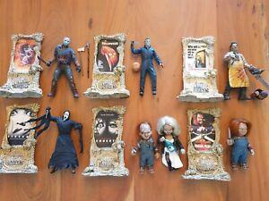 Horror Figure Lot - Jason Voorhees, Michael Myers, Chucky, Ghostface - doll toys