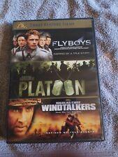 Flyboys, Platoon & Windtalkers dvd set
