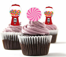 ✿ 24 Edible Rice Paper Cup Cake Topper, decorations - Sweet Machine ✿