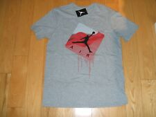 NEW WITH TAGS NIKE  JORDAN FLIGHT GRAY COTTON T-SHIRT MENS LARGE