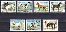 Chiens Kampuchea (16) série complète de 7 timbres oblitérés