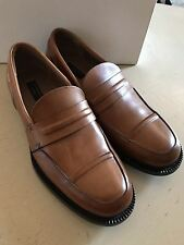 New $1450 Ermenegildo Zegna Couture Leather  Shoes Brown 7 US Hand made In Italy