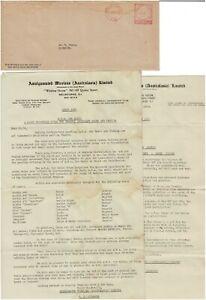 Stamp 1953 Amalgamated Wireless Australiasia advertising cover bulletin document