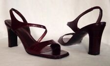 $65 Valerie Stevens Wine Croco Leather Slingback Sandals*Pinto*Size 6.5M*SEXY!!