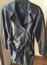 Siena Women's Soft 100% Leather  Zip Up Black Jacket Coat Size Small Thinsulate