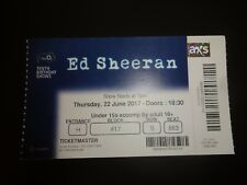 Ed Sheeran O2 London 10th Birthday Show Used Concert Ticket June 2017