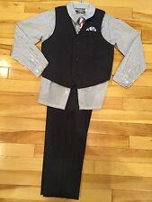 Boys 4 Piece Suit ~ Dress Shirt, Tie, Dress Pants, Vest ~ Size 7  NEW! NWOT