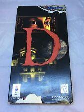 D, 3DO, 1995, Horror Game, Long box