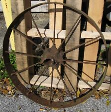 Vtg/Antique 26 x 3 Wagon/Farm Machine/Cart/Tractor Wheel Yard/Barn Art J562