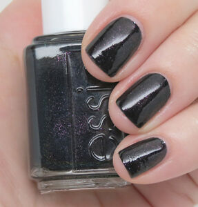 Essie nail polish lacquer HAUTE TUB ~ Jet black with amethyst fire
