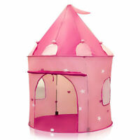 Pink Princess Castle Tent Collapsible Playhouse Indoor Outdoor Pop Up Play Toy