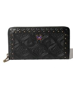 NEW ANNA SUI Siesta round wallet Cowhide Leather 315801