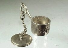 Vintage Sterling Silver Wesch SOSPAN FAC With Movable COVER Saucepan Charm