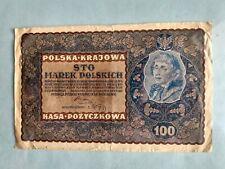 Banknote - 1919 Poland - Polska & Krajowa  - 100 Marek Polskich