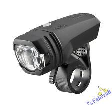 Axa LED Fahrrad Akku Scheinwerfer Vorderlicht Licht Green Line 50  StVZO zugel.