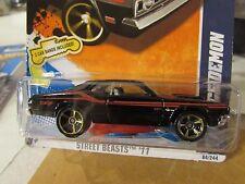 Hot Wheels '71 Dodge Demon Street Beasts Black w/2 Car Bands!