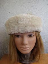 """NEW BEIGE SHEARED BEAVER FUR HEADBAND HEAD WRAP WOMEN WOMAN SIZE 22.5"""" X 2.5"""""""