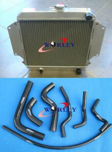 Aluminum radiator + Black hose for SUZUKI SIERRA 1.3 SJ413 1981-1996 MT