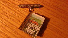 Vintage Radiumbad Brambach Germany Souvenir Mini Photo Book Locket Pin Brooch