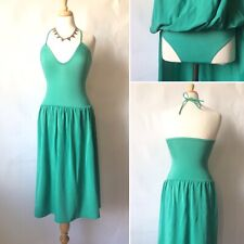 Vintage 1980s Green Swimming Bathing Costume Dress Size Small 8 10
