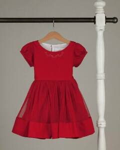 NEW Girls WDW Well Dressed Wolf Banded Merry Dream red Dress Size 12 NWT