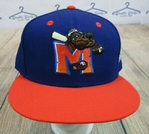 New Era 59Fifty Midland Rockhounds Blue Orange Texas League Fitted Hat 7 5/8