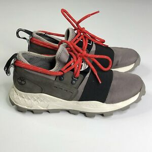 TIMBERLAND x CHRISTOPHER RAEBURN Gray Red RARE Sample Shoes Men's Size US 9
