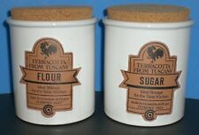 New listing Terracotta from Tuscany Terra Cotta Flour & Sugar Canisters Made in Italy