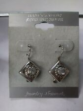 Vintage Earrings Jewelry Network Handcrafted Sterling Silver Triangle Diamond