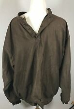 Zero Restriction Brown  Micro Suede Golf Rain Jacket Coat Mens SZ XL Outerwear