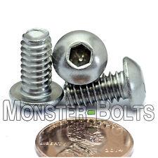 "1/4-20 x 1/2"" - QTY 10 - Stainless Steel BUTTON HEAD Socket Cap Screws 18-8 / A2"