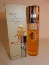 VINTAGE BOTTLE 2.66 WORTH PARIS PARFUM DE TOILETTE JE REVIENS 90 PERFUME IN BOX