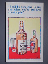 R&L Postcard: Comic, HB 6057 Scotch Whisky, Beer Ale, Drinking