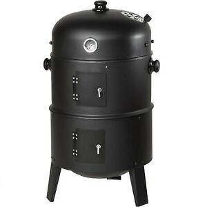 3in1 BBQ Grill a legna e carbone Barbecue Smoker Carbonella Griglia nuovo