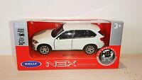 BMW White X5 Diecast Scale Model Car Scale 1:38 NEW