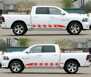 Side Stripe Lift for Dodge Ram 1500 2500 light pickup graphic hitch 2015-2019 up