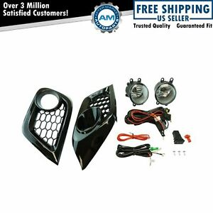 Add On Upgrade Clear Lens Fog Light Bulb Switch Wiring Kit Set for iM Scion New