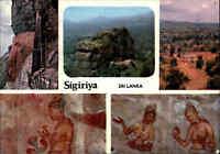 SRI LANKA (Ceylon) Post Card SIGIRIYA Traditional Spots color Mehrbildkarte AK