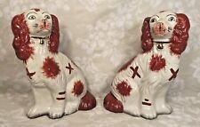 Pair of Vintage Matching Staffordshire Spaniel Dogs