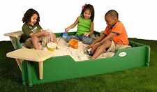 Childrens Sandbox 5X5 SandLock Sandbox with cover for Backyard Kids